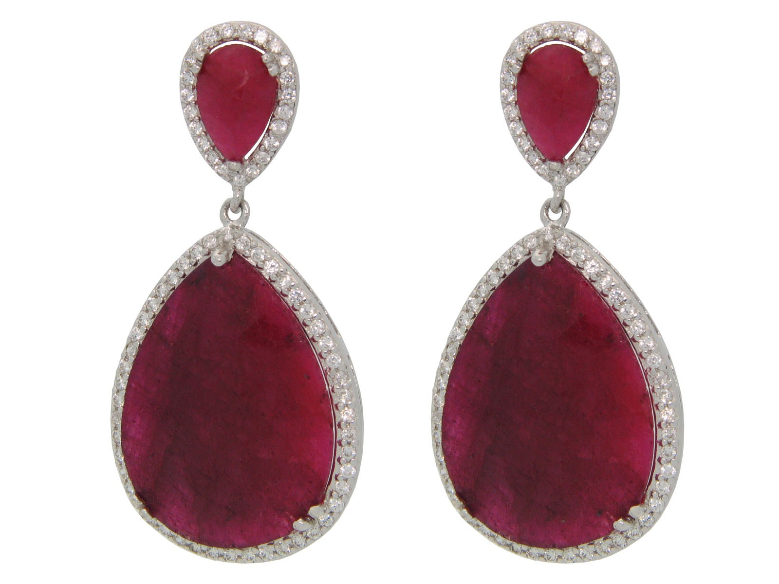 andaaz jewellery earrings products jewelers floral ruby